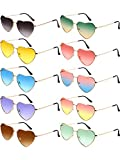 Chinco 10 Pieces Heart Shaped Sunglasses Thin...