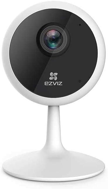 EZVIZ C1C 1080p IP Cámara de Seguridad 2.4GHz WiFi Cámara de Vigilancia Audio Bidireccional Visión Nocturna Monitor de Bebé Servicio de Nube Disponible Compatible com Alexa Ronda