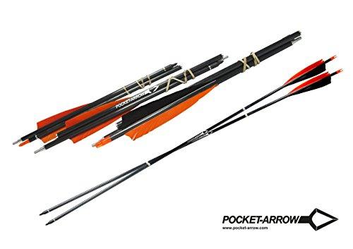 Pocket-Arrow 3er Pack - Zerlegbarer Carbonpfeil von Pocket-Shot