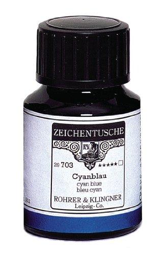 Rohrer & Klingner Drawing Indian Ink Cyan Blue 50 ml