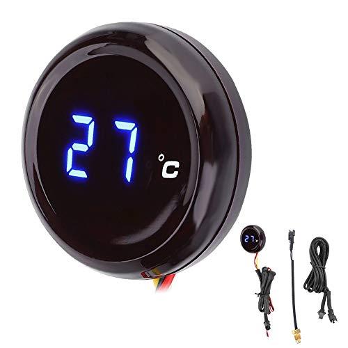 Termometro for moto - Misuratore di temperatura dell'acqua, Termometro digitale impermeabile, Misuratore di temperatura dell'acqua for Honda Kawasaki Yamaha Suzuki (Colore : Blue Light)