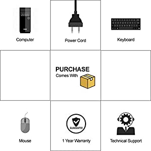 Lenovo ThinkCentre E73 Tower Computer, Intel Core i3-4130 3.4GHz, 8G DDR3, 500G, DVD, Windows 10 Pro 64 Bit-Multi-Language Supports English/Spanish/French(Renewed)