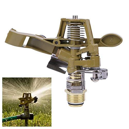 NLJYSH 1 PCS 1/2 Zoll Kupfer Drehen Wassersprenkler Sprühdüse Stecker Kipphebel Gartenbewässerung Bewässerungssystem Gartengeräte