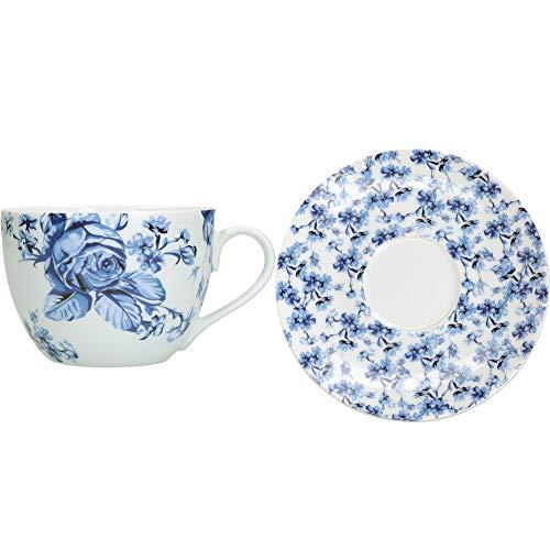 MIKASA Hampton Juego de taza de té y platillo en caja de...