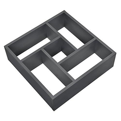 [en.casa] Estantería de pared estilosa gris oscuro mate diseño retro