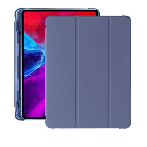 CGGA Funda para iPad Case 2019 10.2 7th 2018 2017 Mini 4 5 2020 Pro 11 10.5 Air 2 Smart Cover con soporte para lápices de silicona (color: morado, tamaño: 8ª)