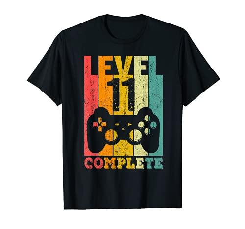 11 Años Cumpleaños Niño Niña Chico Chica Regalo Level 11 Camiseta