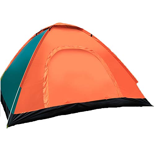 MBUHJ Tent Compact 1-4 Man Tent, Also Ideal for Camping In The Garden, Dome Tent, Light Trekking and Camping Tent, Waterproof, Automatic Tent (A/1,3-4 people double door)