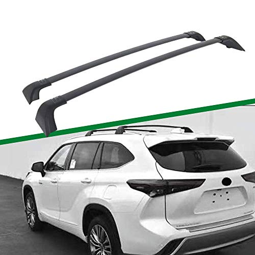 Titopena Roof Rack Cross Bars for 2020 2021 Toyota Highlander XLE & Limited & Platinum Aluminum Cross Bar Replacement for Rooftop Cargo Carrier Bag Luggage Kayak Canoe Bike Snowboard Skiboard