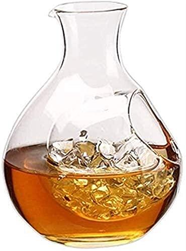 Decantadores Gafas de cóctel, Decantador de whisky Decantador de vino de cristal High-Fin personalizado Hecho a mano de vidrio libre de plomo Decantador rápido Decantador de hogar Pourer Adecuado para