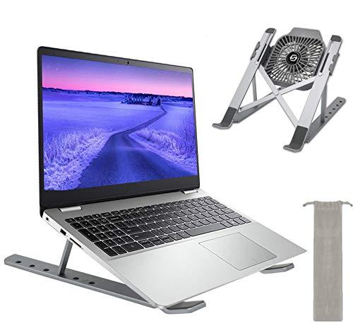 Insun Supporto PC Portatile con Ventola USB Regolabile Pieghevole Laptop Supporto Supporto Notebook Scheggia