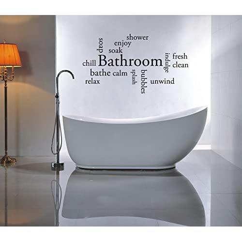Wall Art Bathroom Stickers Amazoncouk