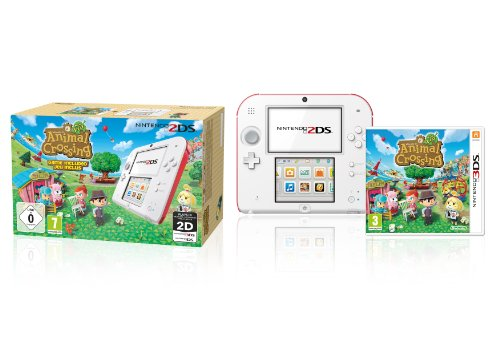 Nintendo 2DS (weiß+rot) inklusive Animal Crossing (Limited Edition)