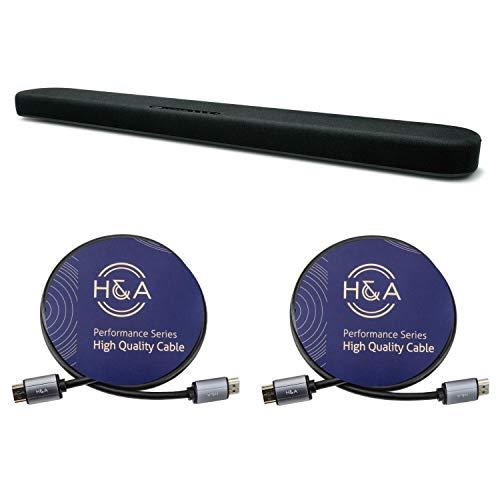 YAMAHA SR-B20A Sound Bar with Dual Built-in Subwoofers, Black Bundle...