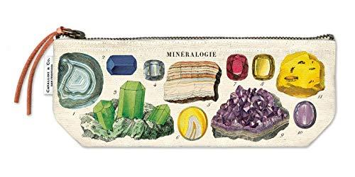 Cavallini - Mini bolsa de algodón 100% natural, 10 x 23 cm, color mineralogía
