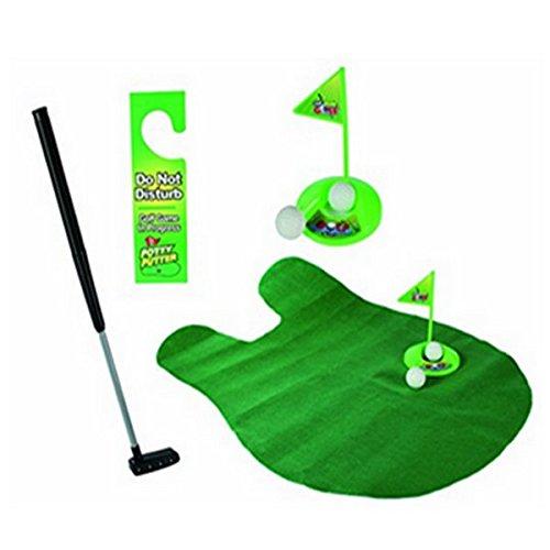 Isuper Golf Toilette - Ensemble de Putter de Pot Jeu de Salle de Bains Mini Set de Golf Set de...