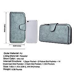 CLUCI Women Wallet Soft Leather Designer Trifold Multi Card Organizer Lady Clutch #2