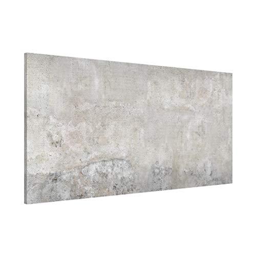 Apalis Magnettafel Shabby Betonoptik Memoboard Design Hoch Metall Magnet Pinnwand Motiv Wand Stahl Küche Büro, Größe HxB: 37cm x 78cm