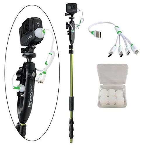 """YOLOtek GoPro Boat Mount PowerStick-53"""" Gen4 - Bundle - Navigation Light Mount Compatible with GoPro & All Action Cameras."""