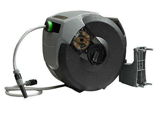 Yerd Automatische Schlauchtrommel Schlauch-Aufroller 30+1m 1/2 Zoll Schlauch, Gardena kompatible Anschlüsse (30 Meter)