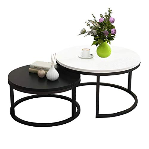Mesa de centro Mesas laterales de la jerarquización mesas, muebles modernos lado del extremo de la tabla juego de sala 2 Ronda de té Tabla mesa central Escritorio Establece Decoración Tablas de café p