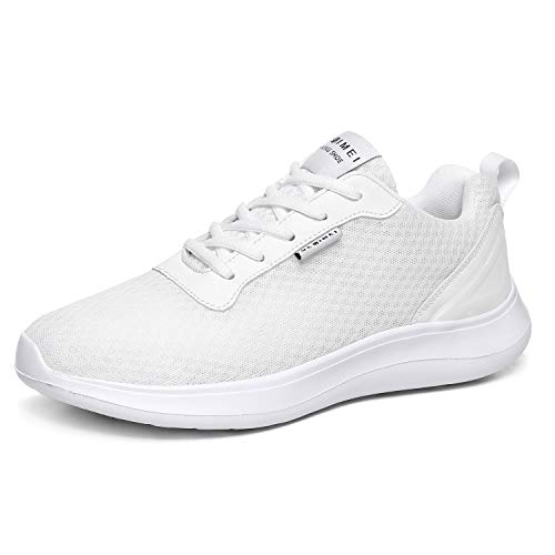BaiMoJia Zapatillas Deportivas Hombre Zapatos Running Bambas Deporte Ligeras Verano Casual Blanco 45 EU