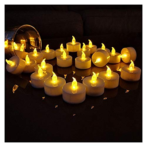 KOLOSM Scents Candle 12pcs/24pcs Flameless Candles Warm White Flameless Pillar Candle Bluk For Romantic Decorations (Color : 12pcs)