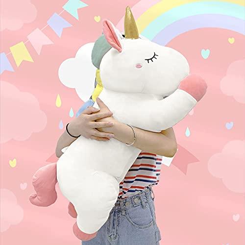 Cute Giant Stuffed Unicorn Plush:Soft Animal Hugging Pillow, Big Body Squishy Plushie,Large Fluffy Pet Gifts for Kids, Kawaii Toy for Girls Room Decor