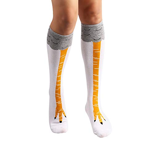 Crazy Funny Chicken Legs Socks Knee High Novelty Cartoon Animal Socks...