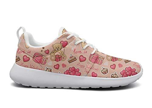 rttyl et67u67 mesh sneaker attractive women fashion pink teddy bear birthday traveling athletic running shoes