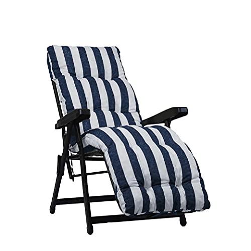 Recambio de cojín acolchado para sillón de relax, fondo de color azul