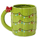 Ceramic Holiday Themed Coffee Or Tea Mug With Colorful Christmas Cactus Design - Large 15 Fluid Ounce, Cutely Crafted Cup With Large Chunky Handle For Hot And Cold Beverages by Tri-Coastal Design