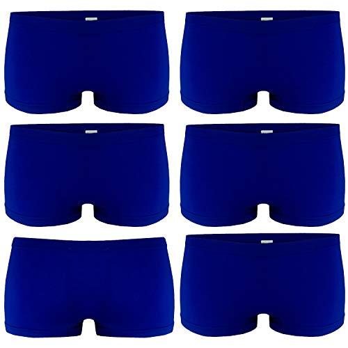 Libella 6er Pack Damen Panties Boxershorts Mikrofaser Seamless 3908 Blau L/XL