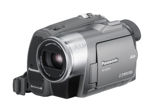 Panasonic NV-GS230 EG-S Camcorder (miniDV, 10-fach opt. Zoom, 6,4 cm (2,5 Zoll) Display, 3CCD)