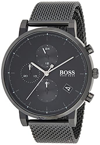 Hugo Boss Herren Analog Quarz Uhr mit Edelstahl Armband 1513813
