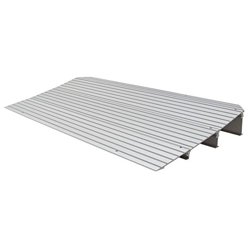 Silver Spring 3-1/4' High Aluminum Mobility Threshold Ramp for Wheelchairs, Scooters, and Power Chairs