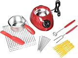 Total Chef Chocolatiere Electric Chocolate Fondue/Melting Pot and Candy Making Kit, 8.8 oz (250 g)...