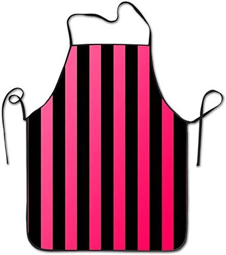 MODORSAN Delantal resistente al agua ajustable con borde de bloqueo con estampado de cebra para hombres y mujeres, delantal de cocina comercial para restaurante y Chef