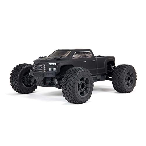 ARRMA 1/10 Big Rock 4X4 V3 3S BLX Brushless Monster RC Truck RTR (Transmitter and Receiver Included, Batteries and Charger Required), Black, ARA4312V3