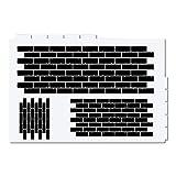Ziegelsteine Schablone - Bricks Stencil FX