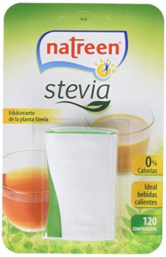 Natreen - Edulcorante Comprimidos Miniwave Dispensador Stevia, 120 uds - [pack de 4]