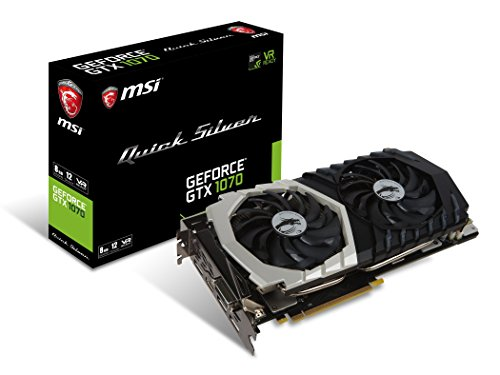 MSI Gaming GeForce GTX 1070 8GB GDDR5 SLI DirectX 12 VR Ready Graphics...