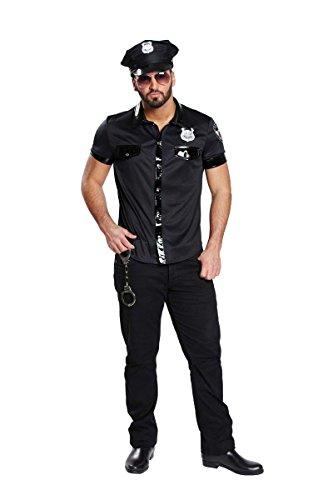 Sexy Polizist Polizei Kost�m Herren Polizeihemd Polizeishirt Polizeikost�m Hemd Shirt Uniform Polizeiuniform US Cop Gr�sse:48