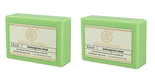 Khadi Lemongras Seife - 125 g - Packung mit 2