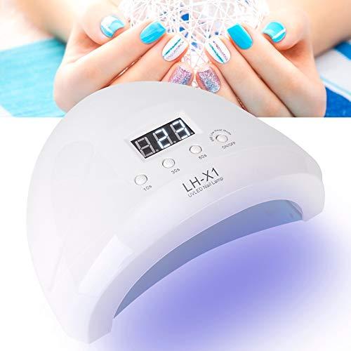 52 Watt LED-spijkerlamp Licht Professioneel Krachtige nail art Sneldrogers Gellak Uitharding Schoonheid Manicure Gereedschap voor vingernagel en teennagel (EU Wit)