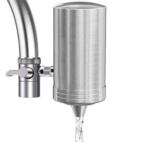 Wasserfilter Wasserhahn 304 Edelstahl Prämie Wasserhahn Filtersystem Entfernen Sie Chlor Tischwasserfilter mit Wasser Filterkartuschen für Küchenhäuser