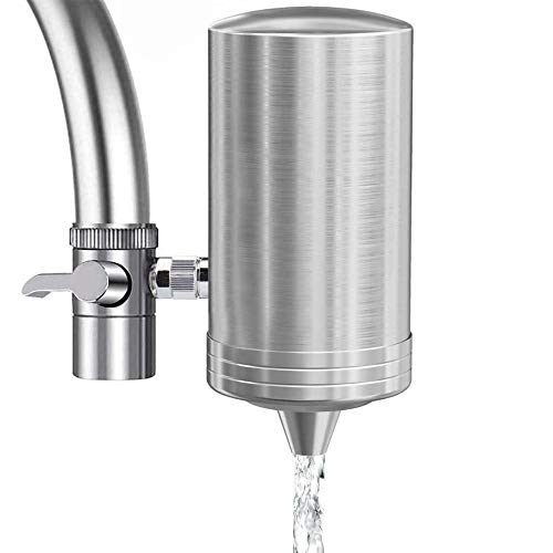 Faucet Water Filter 304 Stainless-Steel Faucet Water Purifier with 7-Layer...