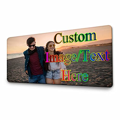 Juaseey Custom Mouse Pad for Laptop Desk Mat for Desktop Personalized Customizable Mouse Pad with Picture Extended Large for Back to School Birthday...