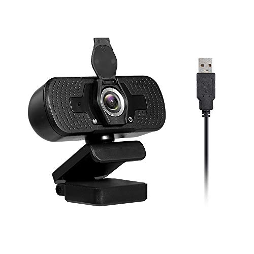 Ajcoflt 1080P Webcam High Definition USB Web Camera with Privacy Cover Noise Isolating Microphone for Laptop/Desktop Computer