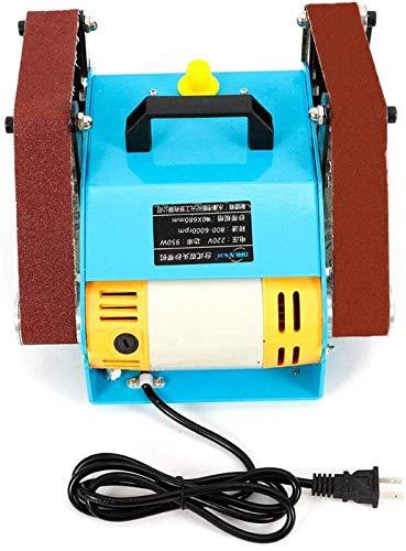 ZGHTD Lijadora De Disco De Banda De 950 W Lijadora De Banda Eléctrica Mini Máquina De Pulido De Doble Eje, Herramienta De Pulido De Amoladora De Banco De Doble Eje De 220 V, 6000 RPM, 40 * 680 Mm